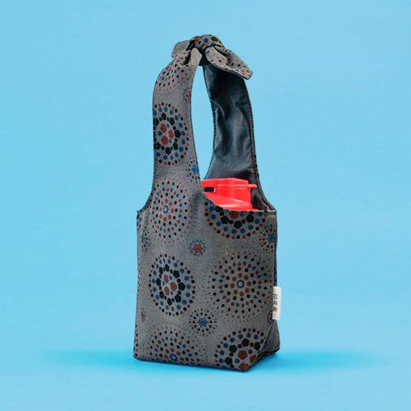 小胖兔耳袋/煙火/夜空灰色 飲料提袋, 環保飲料提袋, 隨行杯提袋, 兔耳袋