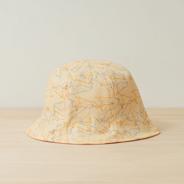 花瓣帽-兒童/台灣八哥/蛋黃色 兒童遮陽帽, 兒童帽, 花瓣帽