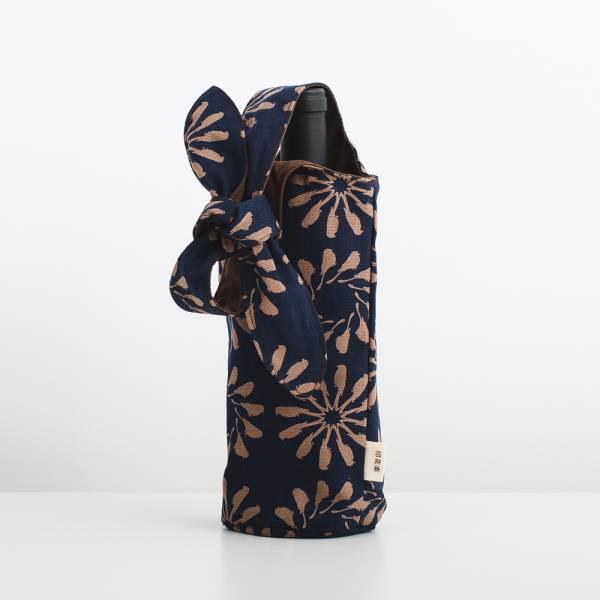 大大兔耳袋/烏秋圈圈/海軍藍色 飲料提袋, 環保飲料提袋, 隨行杯提袋, 兔耳袋