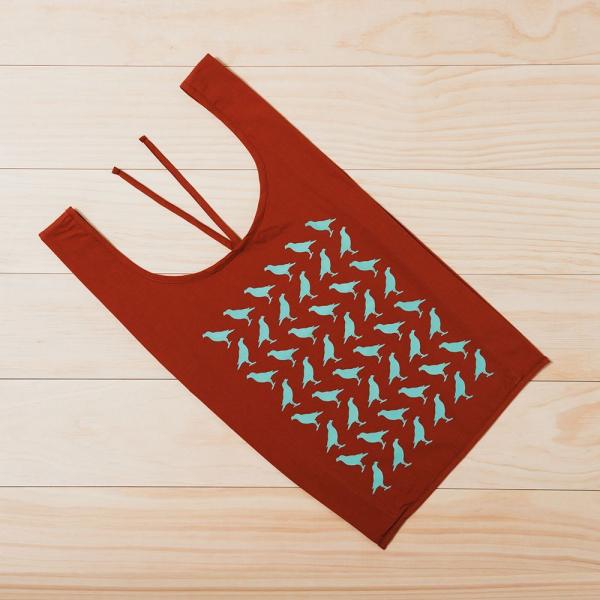 中型背心袋/台灣八哥/赭石褐綠 購物袋