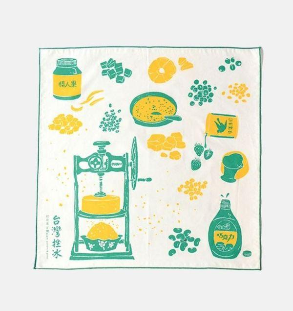 包布巾/台灣剉冰/古早綠 布巾, 包巾, 手帕