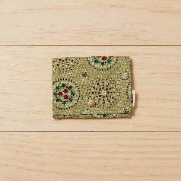 單釦面紙小物袋/煙火/橄欖灰綠 面紙袋, 小物袋
