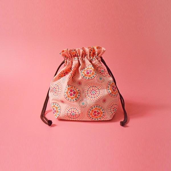 束口旅行衣物袋-M/煙火/桃粉橘綠 旅行衣物袋