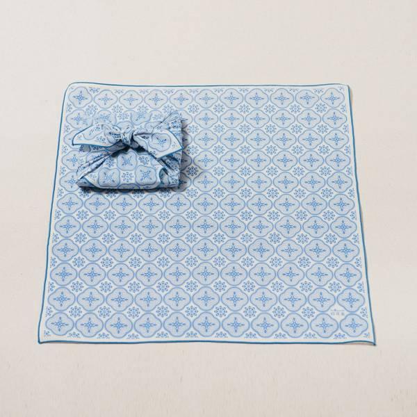 包布巾/玻璃海棠/海水藍色 布巾, 包巾, 手帕
