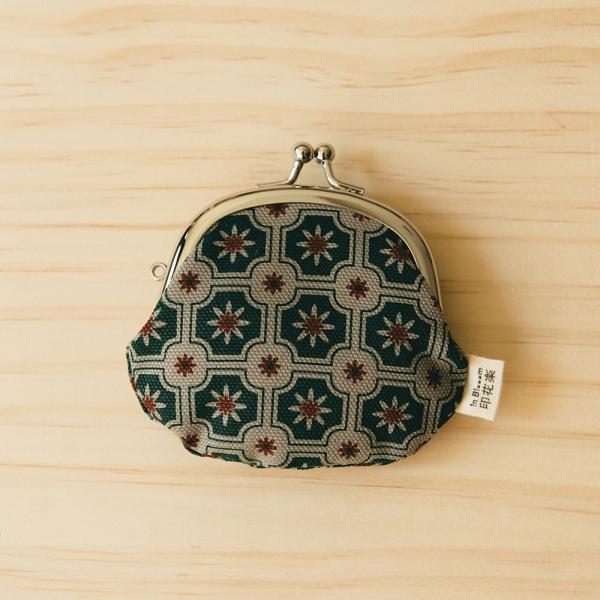 2.6吋口金零錢包/老磁磚2號/島嶼邊際/花園灰綠 口金包, 零錢包