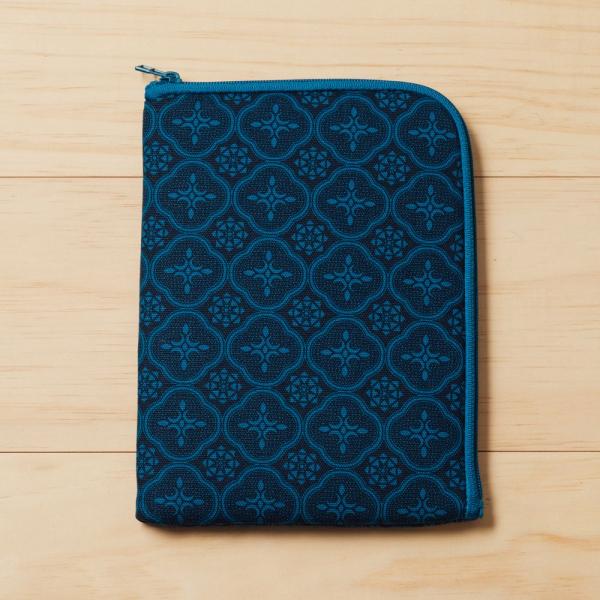 iPad Mini收納包/玻璃海棠/宅邸深藍 平板保護殼, 平板保護袋, iPad收納袋
