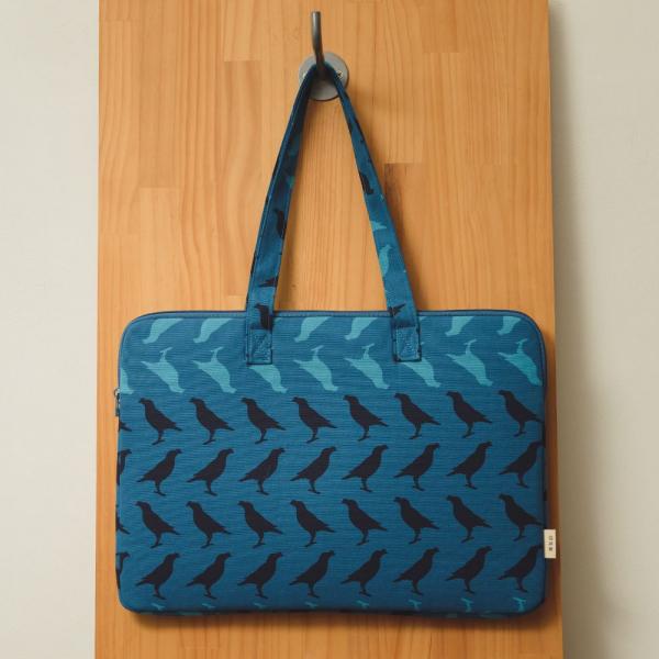 15.5吋筆電收納包/台灣八哥5號/湖心藍色 筆電包, 筆電袋