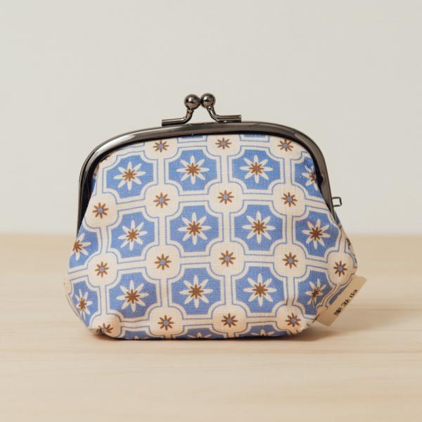 和風3.5吋口金包/老磁磚2號/繡球花紫 口金包, 零錢包, 化妝包