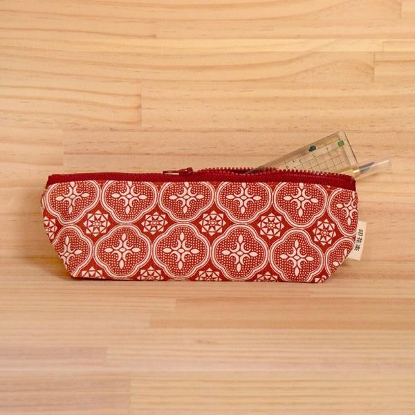 拉鏈筆袋/玻璃海棠/名伶深紅 筆袋, 文具袋