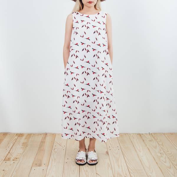 A字連身長洋裝/朱鸝/經典紅黑 2019,連身裙,洋裝,朱鸝