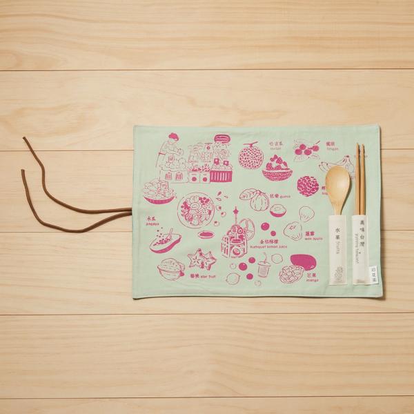 餐墊(含餐具)/美味台灣_水果/莓果紫 餐墊