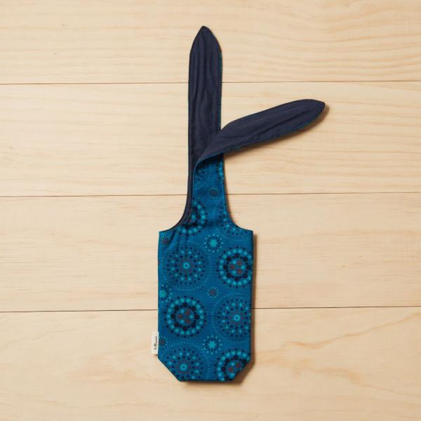 兔耳水壺袋/煙火/星夜藍色 飲料提袋, 環保飲料提袋, 隨行杯提袋, 兔耳袋