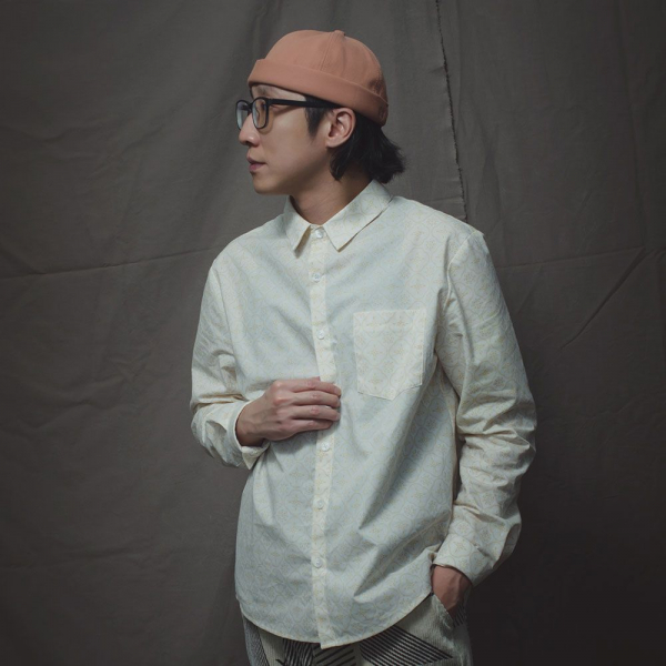長袖襯衫-男款F/玻璃海棠/杏仁淺褐 襯衫, 長袖襯衫