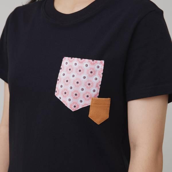 印花口袋棉T/老磁磚2號/黑/紅棕