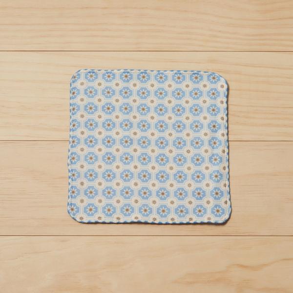 和風雙層小方巾/老磁磚2號/繡球花紫 毛巾, 手帕, 方巾