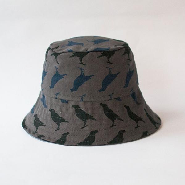 遮陽漁夫帽/台灣八哥5號/工匠灰黑 遮陽帽, 漁夫帽