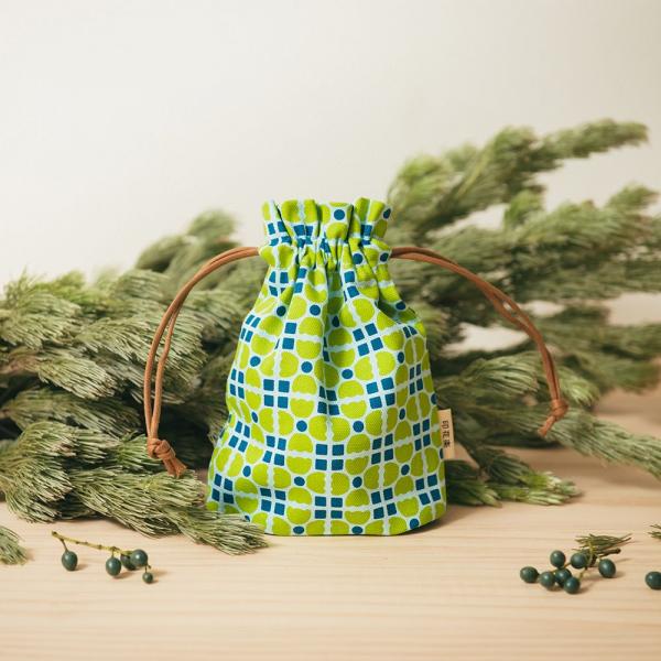 束口小囊袋/老磁磚4號/果樹綠色 束口袋