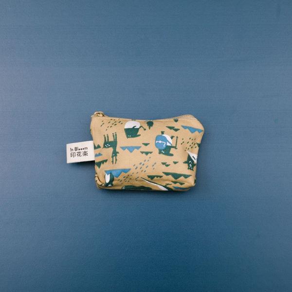 小東西拉鏈包/限定花色/印花樂x馬來貘-山林泥褐 零錢包