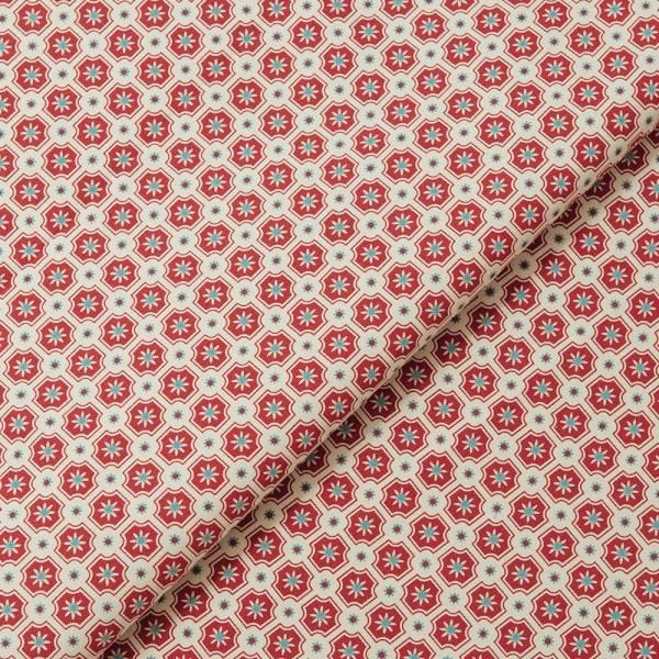 手印棉帆布(滿花)-400g/y/老磁磚2號/醬紅色