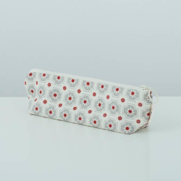 拉鏈筆袋/老磁磚2號/雲塵灰色 文具,筆袋