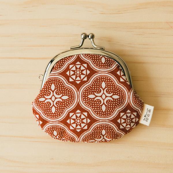 3.3吋口金零錢包/玻璃海棠/名伶深紅 口金包, 零錢包