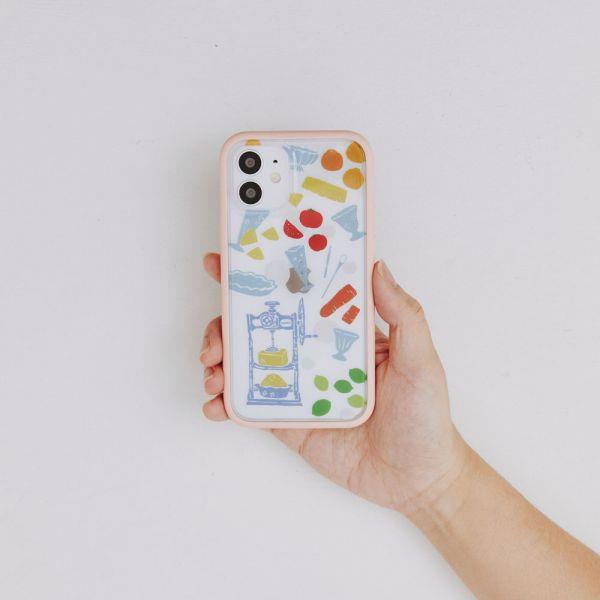 【預購】印花樂X犀牛盾NX邊框背蓋兩用殼-限定花色/剉冰小皿/果粉色 手機殼, 手機套, 犀牛盾, iPhone 手機殼,戀夏冰果室 #冰果室 #復古印花