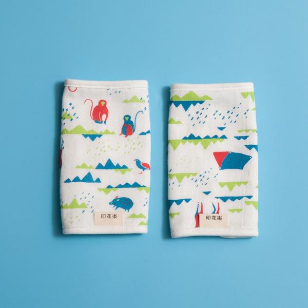 寶寶背帶口水巾二入組/山中健行/活力紅藍 背帶口水巾, 口水巾