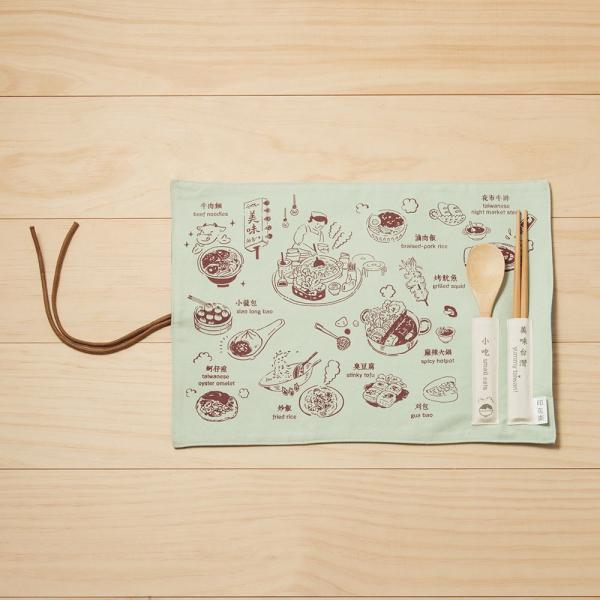 餐墊(含餐具)/美味台灣_小吃/可可棕 餐墊