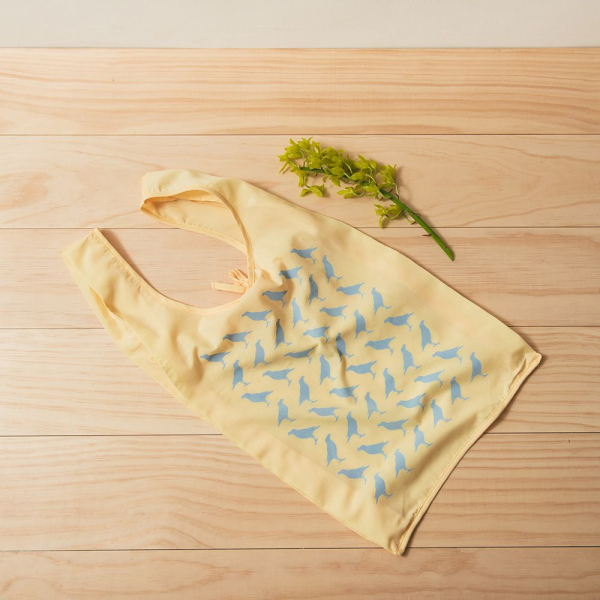 中型背心袋/台灣八哥/淡鵝黃 購物袋