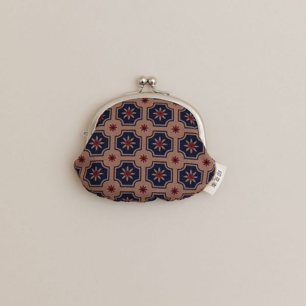 3.3吋口金零錢包/老磁磚2號/古董藍褐 口金包, 零錢包, 化妝包