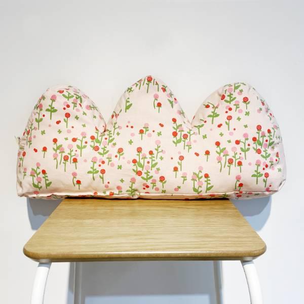 山形抱枕/雜花/圓仔花粉紅 抱枕,靠枕,靠墊