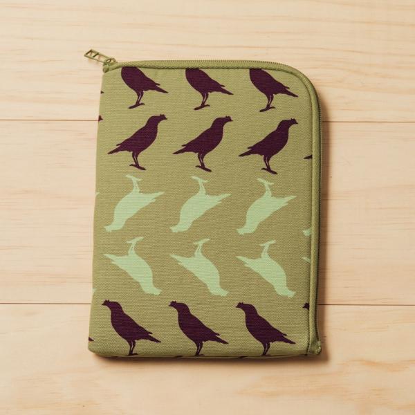 iPad Mini收納包/台灣八哥5號/油畫紫綠 平板保護殼, 平板保護袋, iPad收納袋