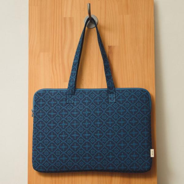 15.5吋筆電收納包/玻璃海棠/宅邸深藍 筆電包, 筆電袋