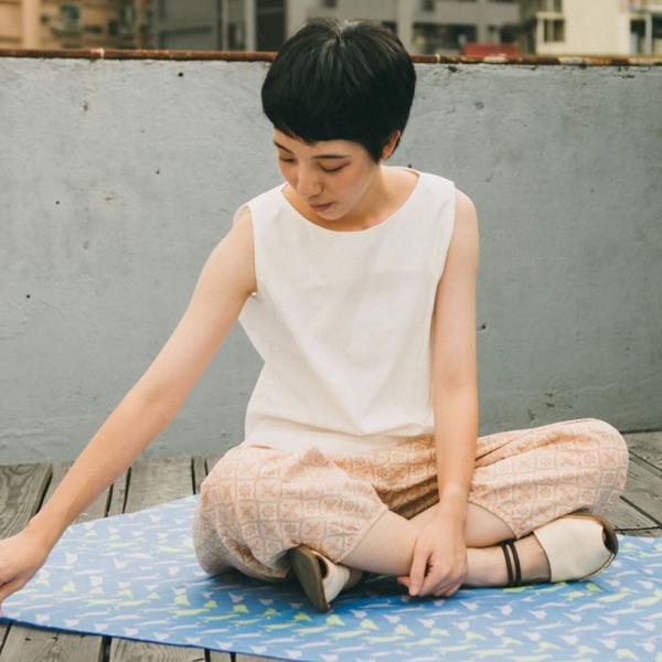抽繩寬版燈籠褲/玻璃海棠/麻黃紅褐 燈籠褲