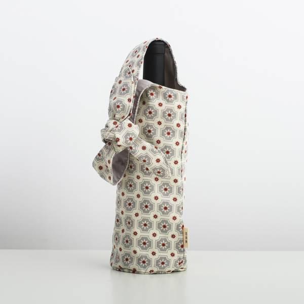 大大兔耳袋/老磁磚2號/雲塵灰色 飲料提袋, 環保飲料提袋, 隨行杯提袋, 兔耳袋