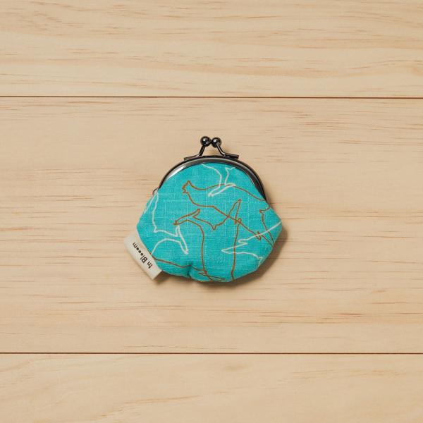 和風零錢小口金包/台灣八哥/冰湖藍 口金包, 零錢包