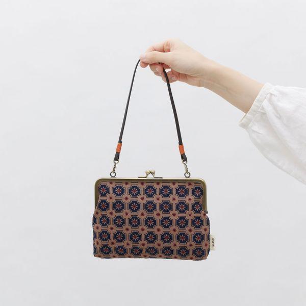 口金手帳包/老磁磚2號/古董藍褐 口金包, 零錢包,手提包