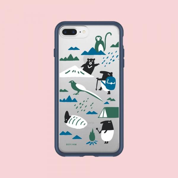 【預購】犀牛盾MOD NX手機殼/印花樂x馬來貘-山林藍 手機殼, 手機套, 犀牛盾, iPhone 手機殼