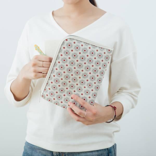 iPad Mini收納包/老磁磚2號/雲塵灰色 平板保護殼, 平板保護袋, iPad收納袋