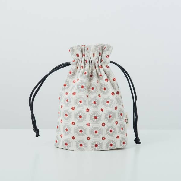 束口小物袋/老磁磚2號/雲塵灰色 束口袋, 收納袋