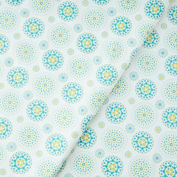 手印棉帆布(滿花)-250g/y/煙火/沙拉黃綠 布料, 棉帆布, 手作材料
