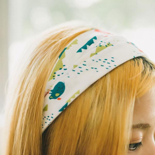 寬版髮帶/山中健行/明亮紅綠 髮帶, 配件, 髮飾, 髮箍