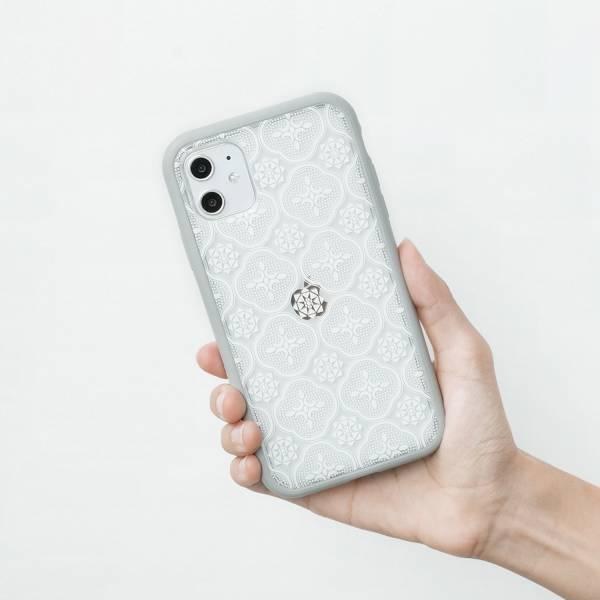 【預購/含iPhone12】印花樂X犀牛盾NX邊框背蓋兩用殼-iPhone/玻璃海棠/背蓋透明白(小) 手機殼, 手機套, 犀牛盾, iPhone 手機殼, iPhone 12