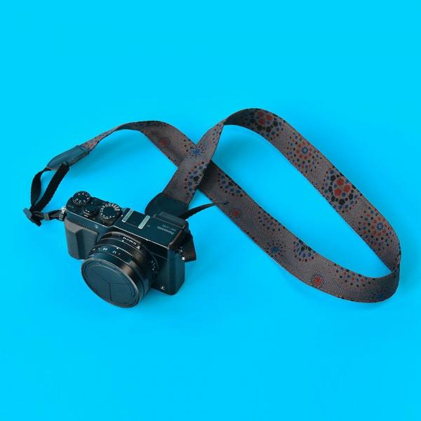 相機揹帶/煙火/夜空灰色 相機背帶