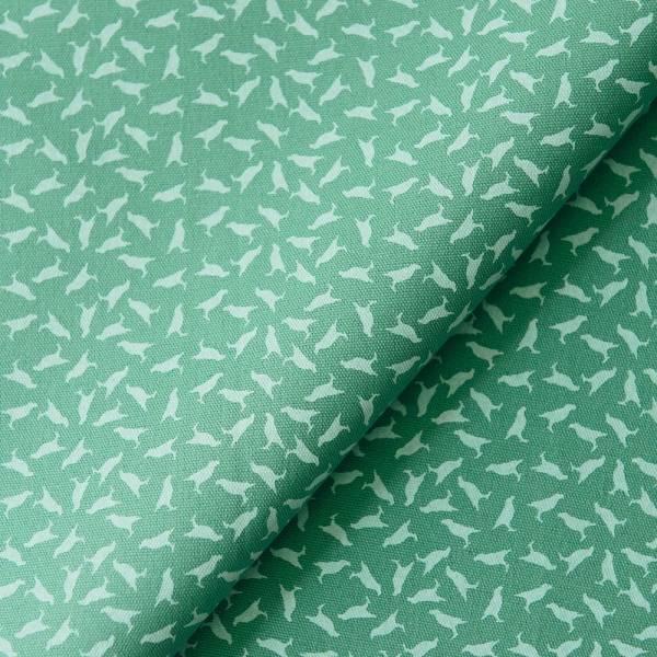 手印棉帆布_滿花-250g/y/台灣八哥4號/地衣灰綠 布料, 棉帆布, 手作材料