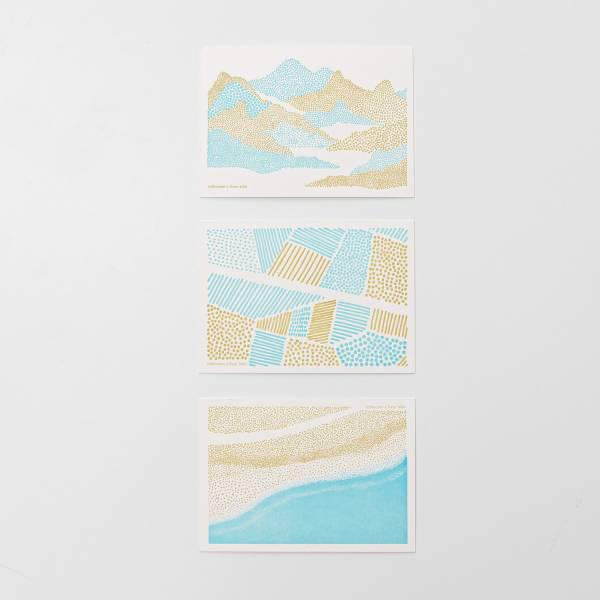 明信片三件組/限定花色/印花樂 x Dear b&b  Dearbnb,明信片三件組,明信片