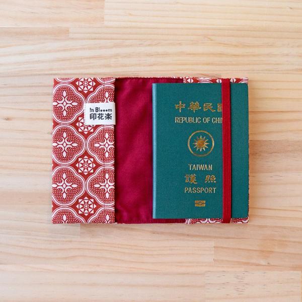 護照書衣/玻璃海棠/名伶深紅 護照套, 書衣