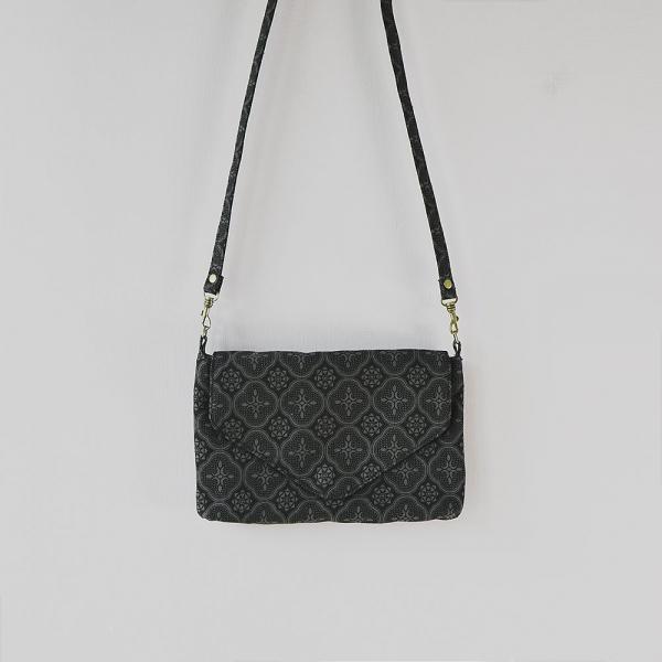側背信封口小包/玻璃海棠/紳士黑色 隨身包, 側背包