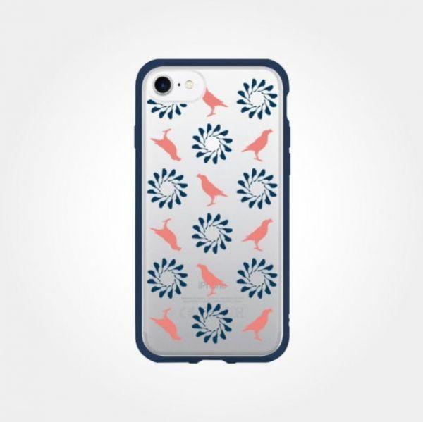 印花樂X犀牛盾NX邊框背蓋兩用殼-IPHONE XS/烏秋八哥/背蓋透明藍粉 手機殼, 手機套, 犀牛盾, iPhone 手機殼