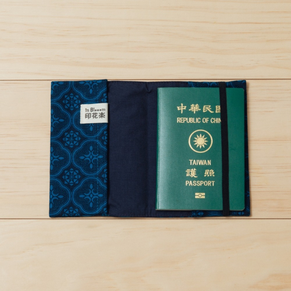 護照書衣/玻璃海棠/宅邸深藍 護照套, 書衣